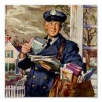 vintage_business_mailman_mail_carrier_delivering_poster-r0daadf37af3d4a0a987890937a98df4f_wad_8byvr_512
