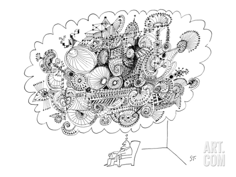 saul-steinberg-a-man-sitting-in-a-chair-is-thinking-of-a-very-large-elaborate-sketch-new-yorker-cartoon_i-G-65-6589-5HL2100Z