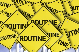 Routine written on multiple road sign
