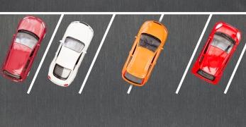 Bad parking. Improperly parked car