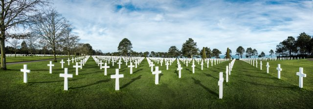 American cemetery in Normandy,France.