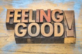 feeling good phrase in wood type